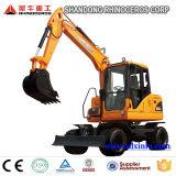 máquina escavadora de roda de cubeta para a venda, fábrica de 8t 0.3cbm da máquina escavadora da maquinaria de construção