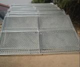 Временно загородка звена цепи обшивает панелями ширину 6FT x 10FT трубы 1.375 дюймов