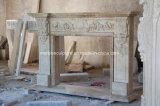 Античной камин высеканный рукой бежевый травертина мрамора Sy-308
