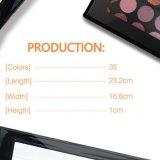 Sombra de ojo mate del reflejo de la gama de colores profesional del sombreador de ojos del maquillaje de 35 colores Es0307