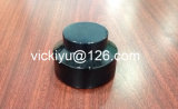 """100g Black Cream Glass Jars, Puple Black Glass Container for Cosmetics, Violet Black Glass Cream Containers with Alu Black Cap""(English)"