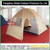 Tenda di campeggio rossa esterna elettrica di esagono del tempo freddo del tetto