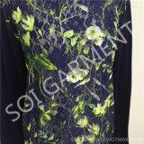 Pulôver da forma das senhoras do projeto laço novo/revestimento emendados camisola do casaco de lã (SOITSW-45)