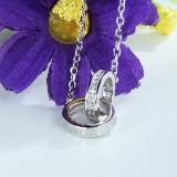 鎖が付いている女性925の純銀製の倍の吊り下げ式のネックレス
