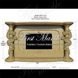 Binnen Marmeren Gouden Open haard mfp-1024 van de Woestijn van het Graniet van de Steen