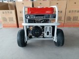 6.5kw 4X 큰 압축 공기를 넣은 바퀴 및 드는 훅을%s 가진 휴대용 가솔린 발전기
