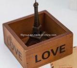 Casella di legno personalizzata di qualità superiore per singola memoria del vino della bottiglia
