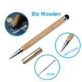 Pena dupla do estilete do metal do Ballpoint de madeira para o equipamento do painel de toque