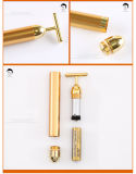 ringiovanimento del viso di rimozione della grinza di impulso della barra di bellezza dell'oro 24k che vibra facile casalingo dorato 24k trasportare lo strumento di bellezza
