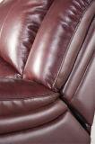 Muebles del sofá del cuero del Recliner del color rojo