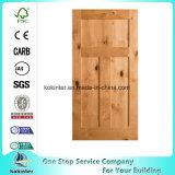 Puerta interior de Prehung del aliso nudoso rústico de la base de madera sólida de la coctelera del artesano 3-Panel sola