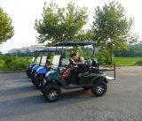 Carro de golf eléctrico de gran alcance de 6 pasajeros, carro de golf de visita turístico de excursión, carro de golf barato para la venta