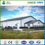 Промышленным Prefab гальванизированное металлом здание стальной структуры