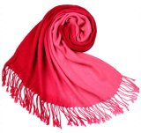 Atacado Fringed 70% Pashmina 30% Seda Solid Color Plain Pashmina Scarf