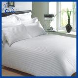 Van het Katoenen van 100% Blad Bed van het Hotel het Gestreepte, Vastzettende Reeks, het Linnen van het Bed