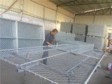 Temporärer Kettenlink-Zaun täfelt 6FT x 10FT die Breite die 1.375 Zoll-Rohre