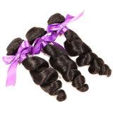 Gruppi diritti 7A dei capelli non trattati del Virgin del Virgin dei capelli brasiliani i 3 del tessuto brasiliano dei capelli umani impacchetta i capelli diritti brasiliani
