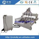 Multi router di CNC delle teste degli assi di rotazione 4 con rotativo