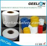 反射舗装のマーキング、道マーキングテープ、黒くおよび黄色注意テープ