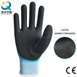 перчатка латекса 13G Sandy, двойные Coated перчатки работы, перчатки безопасности латекса Sandy, двойные Coated мягкие перчатки
