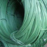 Fil vert enduit de fer de PVC (2.5mm)