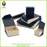Tapa cosmética y la Base de la caja de papel de regalo con ventana