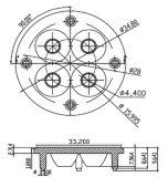 Lámpara Lens/R35mm 3/4/5 del punto de Downlight en una lente (CREE XTE de 38 grados)