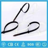 Individu de serre-câble en nylon de prix de gros d'approvisionnement/acier inoxydable verrouillant le type individu de serre-câble/bille