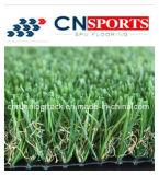 Herbe fausse de qualité, gazon artificiel, pelouse synthétique pour le jardin et horizontal