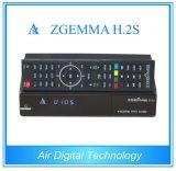 O receptor Zgemma H. 2s da televisão satélite com o afinador DVB-S2 gêmeo Dual núcleo
