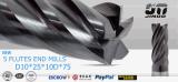 Rosto Metal Duro alta qualidade de acabamento End Milling Ferramentas de Corte para Fresadora