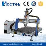 Acctekの小型デスクトップ4の軸線CNCのルーターの彫刻家6090/ルーター機械木、MDFの金属、石、アルミニウムを切り分ける高速CNC木