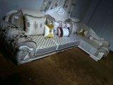 Nouveau Canapé en tissu classique, Sofa d'Arabie Saoudite (2035)