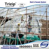 Hoja de aluminio del material para techos de Tepered para la ciudad del estudio