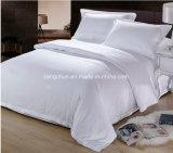 Hotel-Gebrauch Polycotton weißes Satin-Gewebe-Bett-Blatt-Set