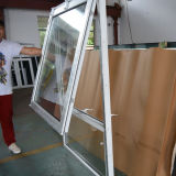 Окно белого профиля цвета UPVC верхнее повиснутое с мотылевым замком Kz184