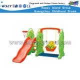 Corrediça pequena do urso do campo de jogos da vigia dos miúdos ajustados plásticos do brinquedo (HC-16407)