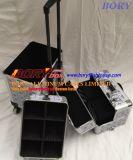 3 PCS 알루미늄 장식용 트레인 메이크업 케이스 아름다움 Box3 PCS 알루미늄 장식용 트레인 메이크업 케이스 아름다움 상자