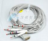 Cable de los terminales de componente ECG de Schiller 10, tipo del plátano del cable de EKG