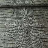 Cuero de los muebles de Semi-PU del patrón del cocodrilo (QDL-FS006)