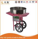 Machine électrique de soie de sucrerie de coton avec le chariot