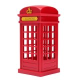 Vintage London Telephone Booth USB Chargeur LED Night Lamp
