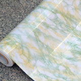 PVC大理石シートの壁紙の大理石の家具シート