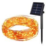 Angeschaltene LED kupferner Draht-Zeichenkette-Solarlichter Cer RoHS der anerkannten Weihnachtsdekoration-