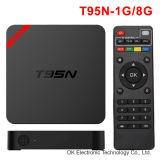 T95nはクォードのコアアンドロイド5.1 TVボックス小型Mx+ IPTV人間の特徴をもつTVボックスを卸し売りする