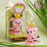 Reizende kleine Tiger-Geschenk-Kerze für Kind-Geburtstag-Kunst-Kerze-Geschenk-Set