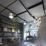 Iluminação LED de esfera de vidro moderno e simples para o bar do hotel, com lustre