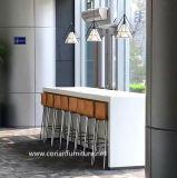 Corianのアクリルの固体表面のオフィス、レストラン、ホテルのダイニングテーブル