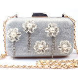 Lady Evening Bags com acessórios de flores Women Shoulder Bag Eb668