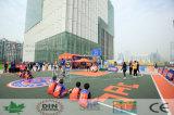 La plupart d'étage professionnel de terrain de basket en Asie Nicecourt